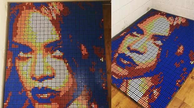 A cantora Rihanna em quadro de Contardi (Foto: Reprodução)