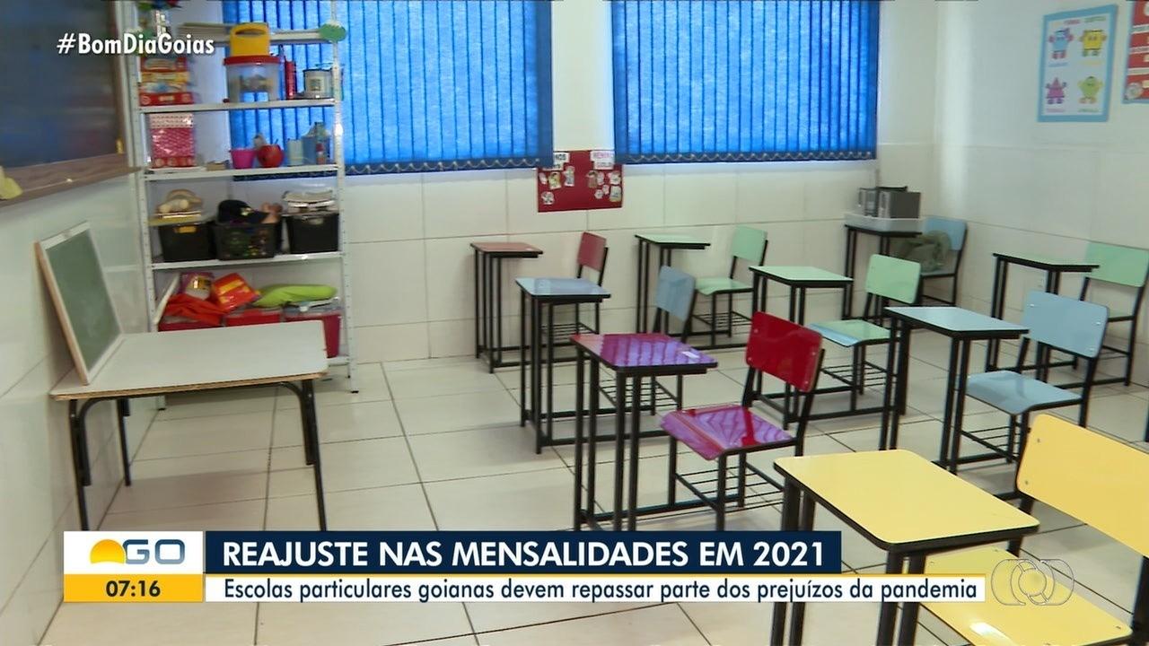 Escolas anunciam reajustes nas mensalidades de 2021 em Goiás