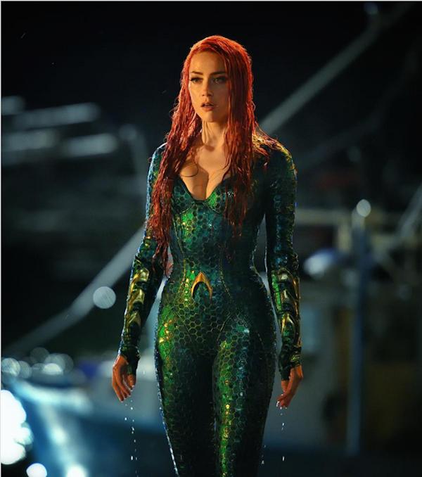A atriz Amber Heard no papel da Rainha Mera em Aquaman (Foto: Instagram)