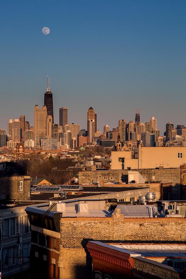 Lifestyle Chicago - Vista do Rooftop do hotel The Robey (Foto: Rogério Voltan)