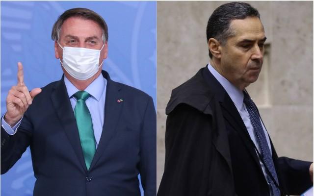 Jair Bolsonaro e Luís Roberto Barroso