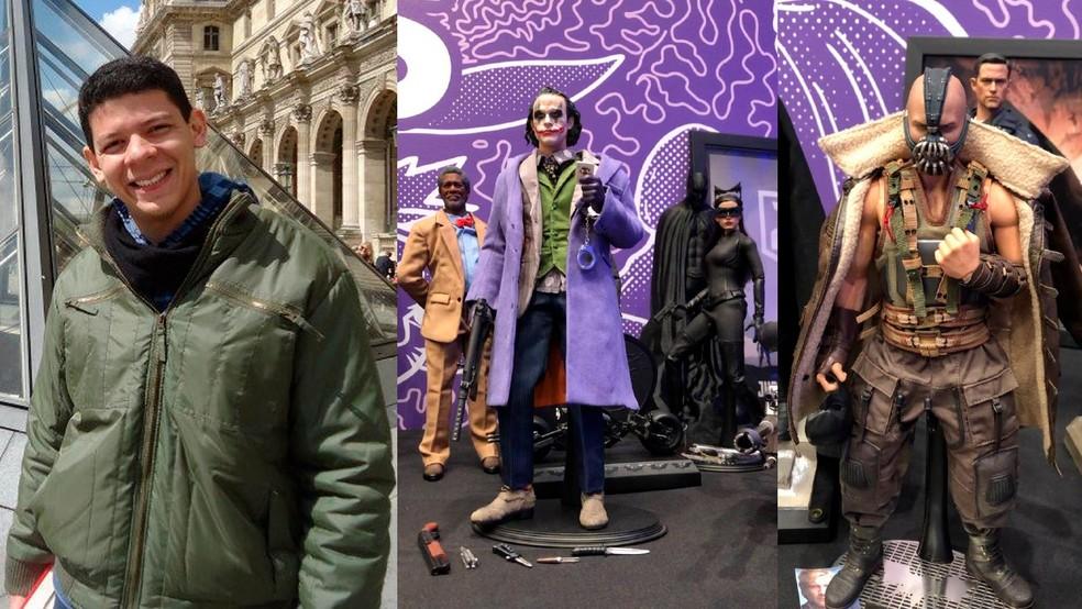 O arquiteto Diego Coqueiro já tem uma coleção de figuras de ação que passa de mil peças — Foto: Reprodução/Divulgação/Volts