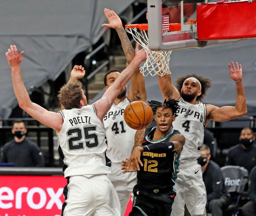 Memphis Grizzlies x San Antonio Spurs NBA — Foto: Ronald Cortes/Getty Images