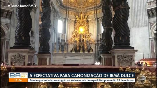 Jéssica Senra mostra local onde vai ocorrer a cerimônia de canonização de Irmã Dulce