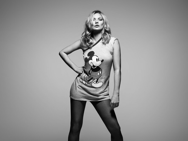 EMBARGOED UNTIL 1500, BST, WEDNESDAY 09 MAY 2018: Some of the world's most famous faces have come together to celebrate the 90th anniversary of Mickey Mouse this year and pay tribute to the cultural impact he has had on the world. Kate Moss (pictured) is  (Foto:  )