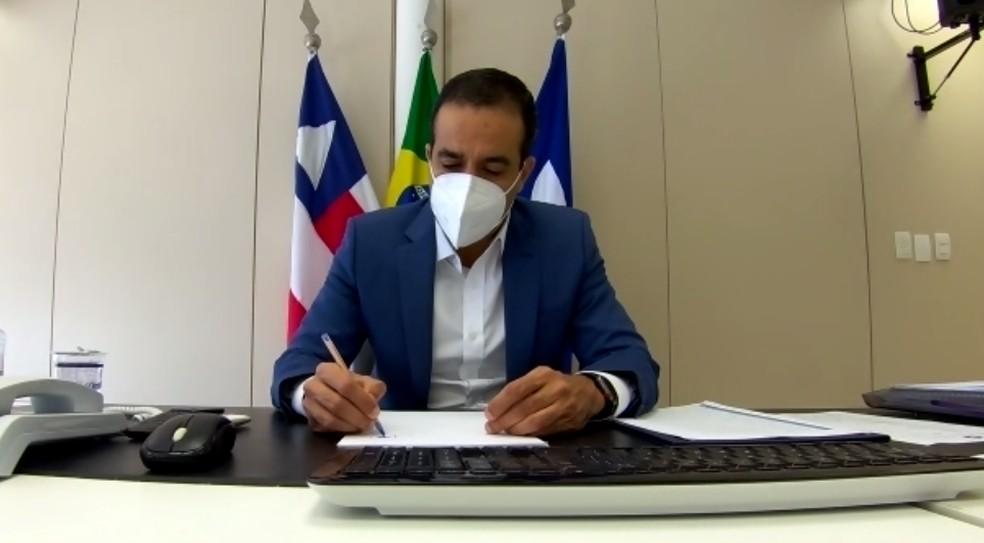 Bruno Reis anuncia auxílio para trabalhadores do setor cultural e de eventos — Foto: Reprodução