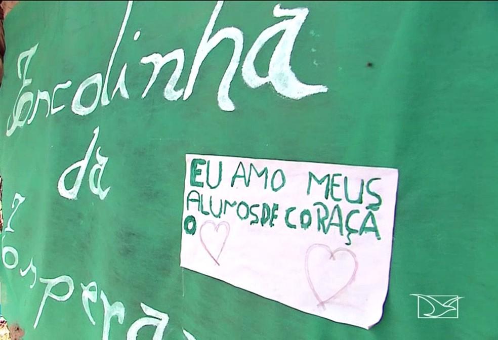 Chamada de 'Escolinha da Esperança' tem cerca de 20 alunos. — Foto: Reprodução/TV Mirante