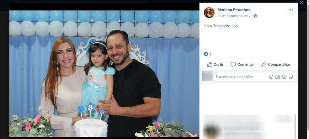 Família morta em Araguari — Foto: Reprodução/Facebook