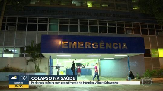 Funcionários recusam pacientes no Hospital Albert Schweitzer, na Zona Oeste do Rio