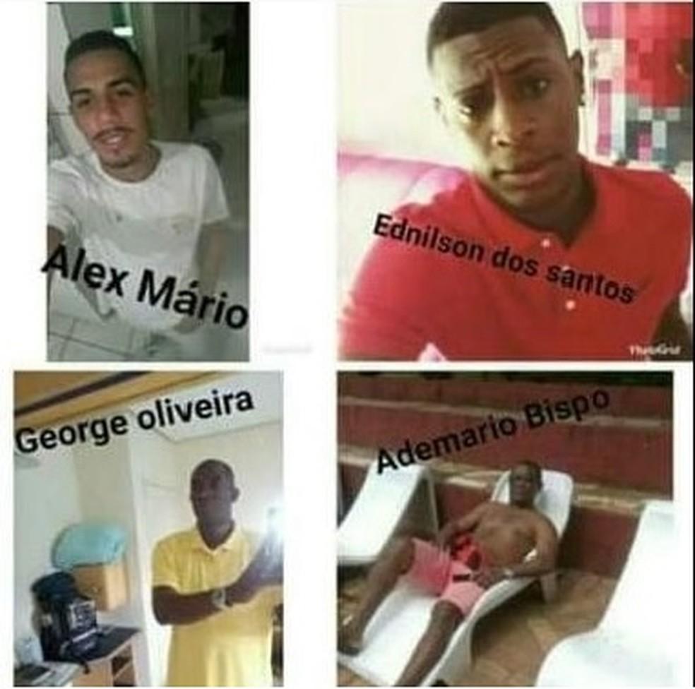 Baianos desaparecidos na tragédia de Brumadinho, em Minas Gerais — Foto: Reprodução/ Facebook