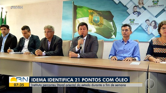Governo do RN monta grupo para combater manchas de óleos no litoral