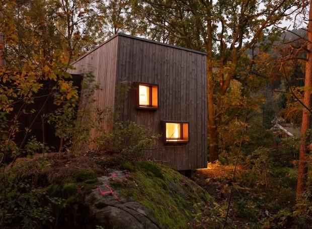 Hospital da Noruega cria abrigo no meio da Floresta (Foto: Instagram / snohetta)