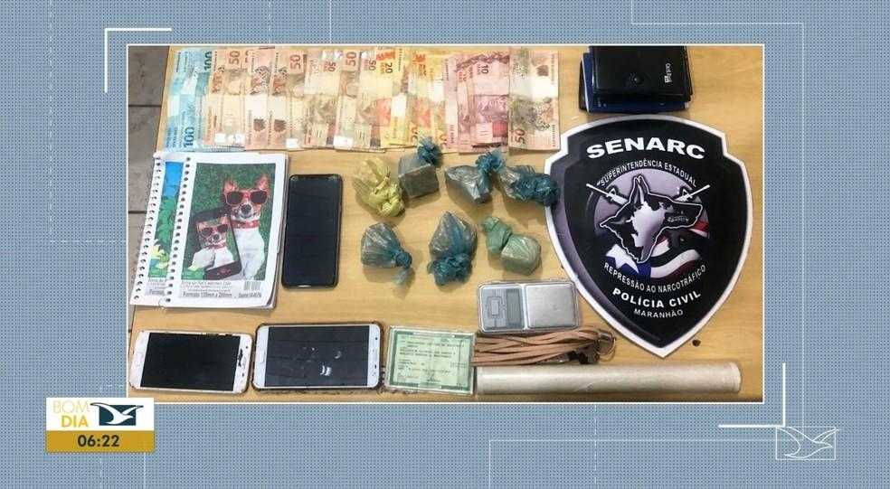 Cinco presos são da mesma família e a droga era fornecida para traficantes da região. — Foto: Reprodução/ TV Mirante