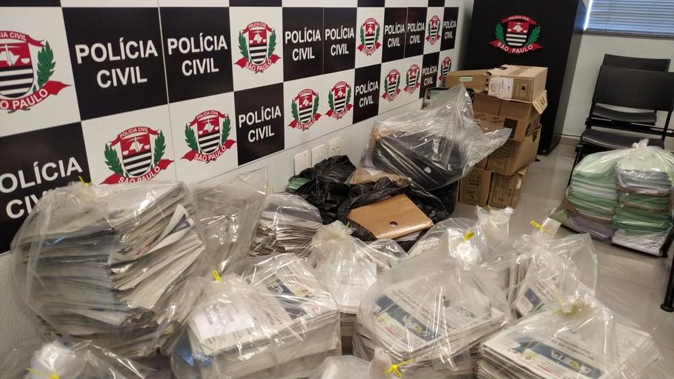 Operação Casa de Papel cumpriu 18 mandados de busca e apreensão em Sorocaba — Foto: Fernando Bellon/TV TEM