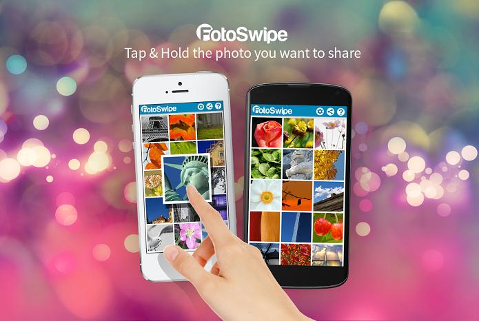 FotoSwipe compartilha fotos do Android para o iOS (Foto: Divulgação/FotoSwipe)