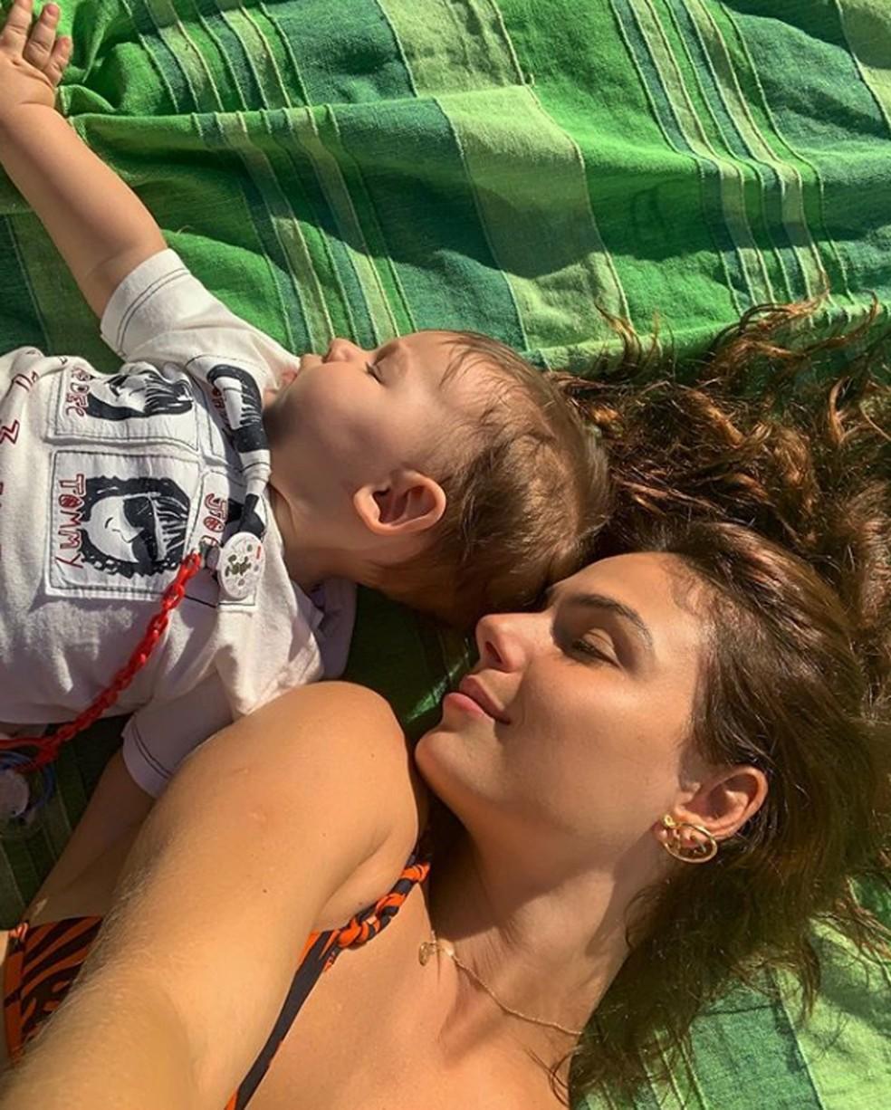 Isis Valverde com o filho, Rael — Foto: Isis Valverde / Instagram / Reprodução
