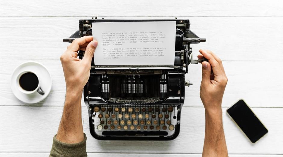 maquina de escrever, escrita, história (Foto: Reprodução/Pexels)