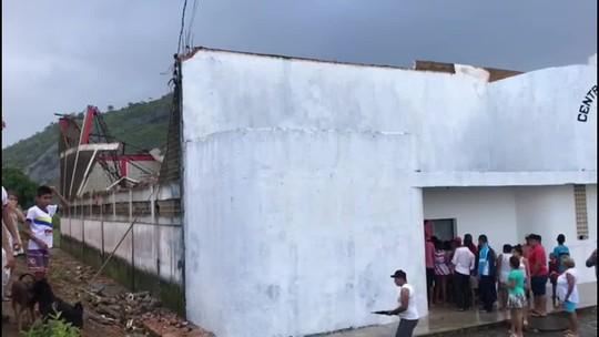Tempestade causa destruição na cidade de Joaquim Gomes, AL