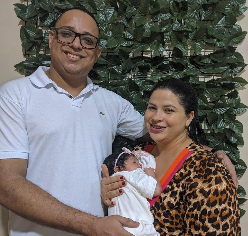Família comemorou o resultado dos exames  — Foto: Arquivo pessoal