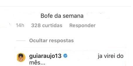 Comentário de Gui Araújo (Foto: Reprodução/Instagram)