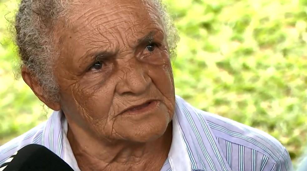 A bisavó da criança encontrada morta em Hortolândia, Ilza Viana Nascimento — Foto: Reprodução / EPTV