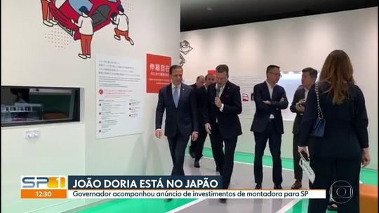 Governador João Doria anuncia investimentos de montadora