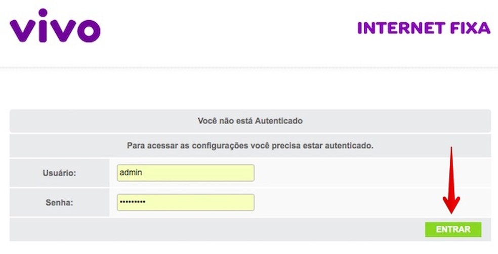 Faça login para editar as configurações (Foto: Reprodução/Helito Bijora)