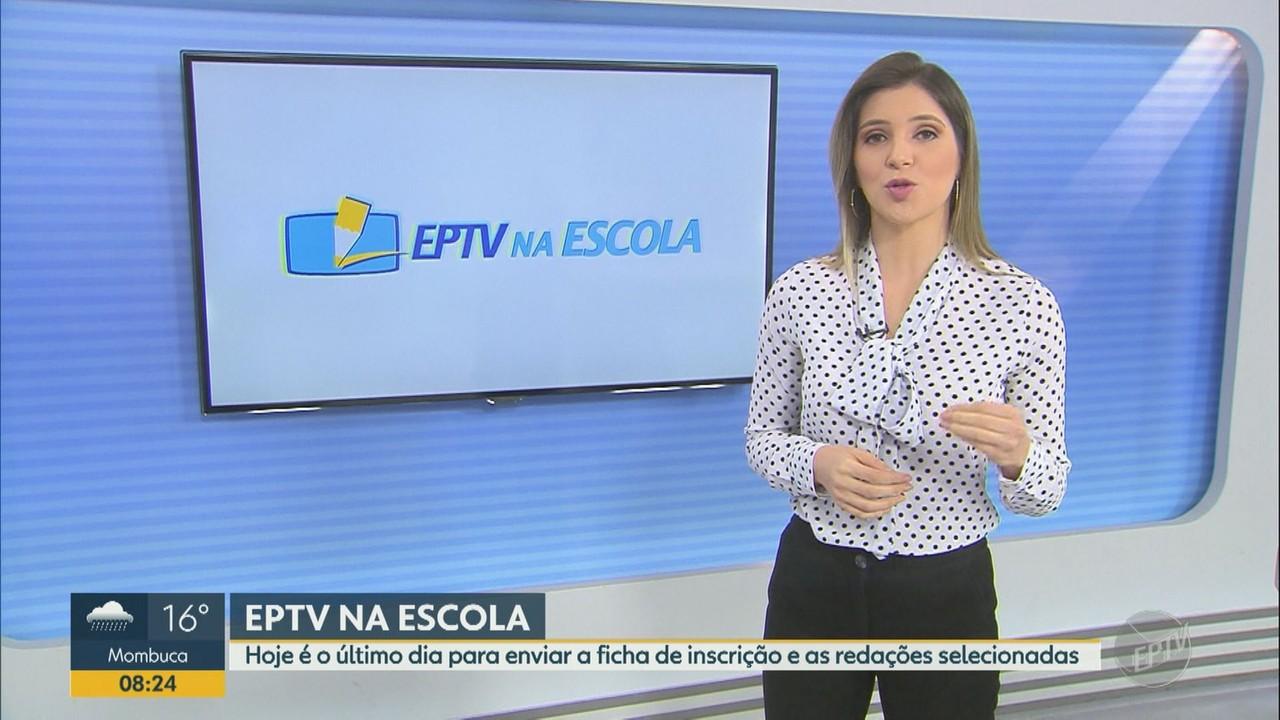 Inscrições para concurso de redação EPTV na Escola 2020 terminam nesta terça