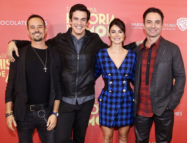 Paulo Vilhena, Mateus Solano, Thaila Ayala e Marco Luque (Foto: Manuela Scarpa/Brazil News)