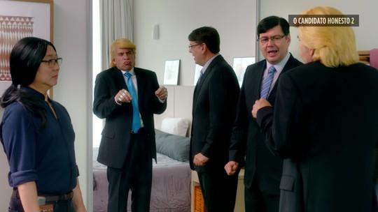 'Candidato Honesto 2' tem Leandro Hassum improvisando como Donald Trump; veja bastidores do filme