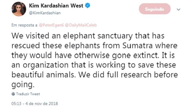 Post de Kim Kardashian (Foto: Reprodução/Twitter)