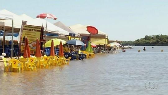 Começa temporada de praia do Rio Araguaia no distrito de Luiz Alves, em Goiás