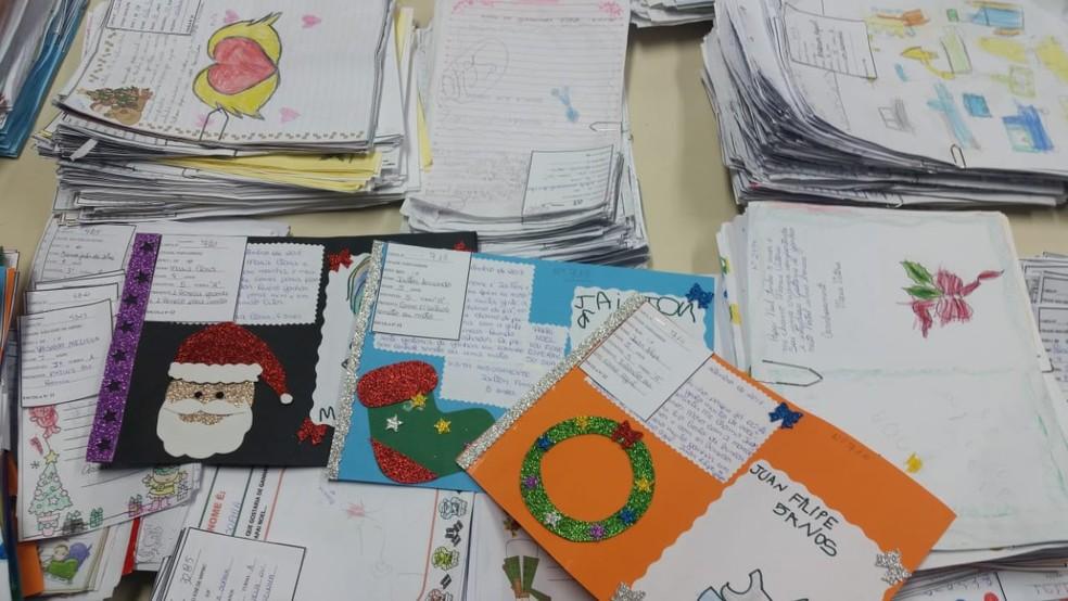 Cartinhas enviadas ao bom velhinho participam de campanha Papai Noel dos Correios — Foto: Correios/Divulgação