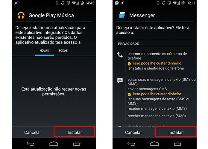 Instale os apps normalmente (Foto: Reprodução/Paulo Alves)
