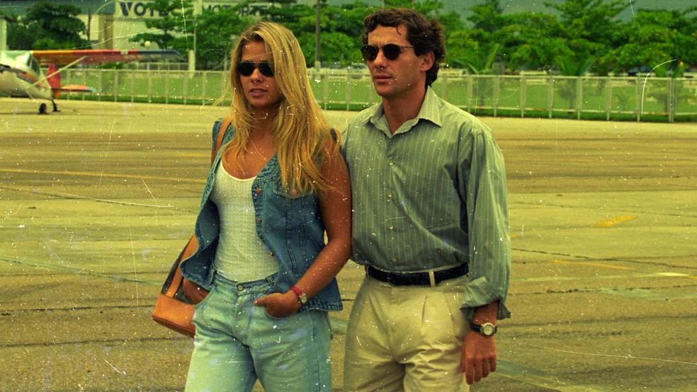 Então modelo, Galisteu namorou Senna até a morte do piloto de Fórmula 1 — Foto: Ari Lago/Agência O Globo
