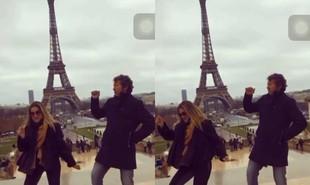 Ingrid Guimarães, a Silvana de 'Bom sucesso', curte férias em Paris com o marido, René Machado, e a filha, Clara. Ela postou um vídeo no Instagram dançando em frente à Torre Eiffel | Reprodução
