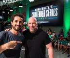 Felipe Andreoli e Dana White | TV Globo