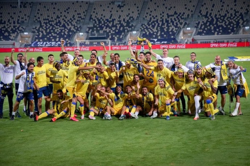 Maccabi Tel Aviv conquistou bicampeonato em Israel — Foto: Divulgação/Maccabi Tel Aviv