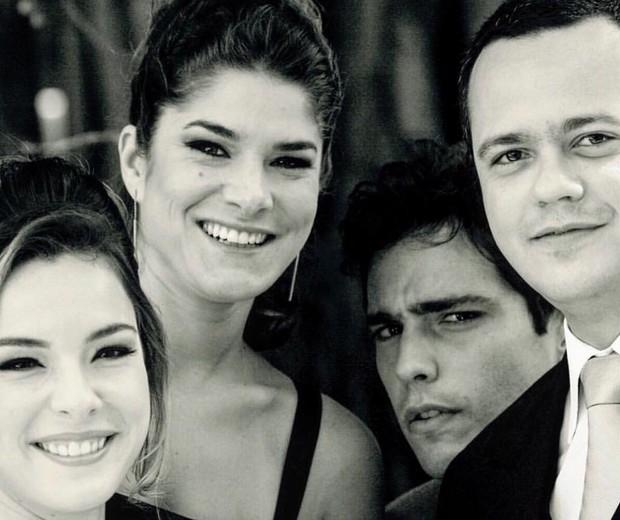 Regiane Alves, Priscila Fantin, Thiago Rodrigues e Danton Mello (Foto: Reprodução/Instagram)