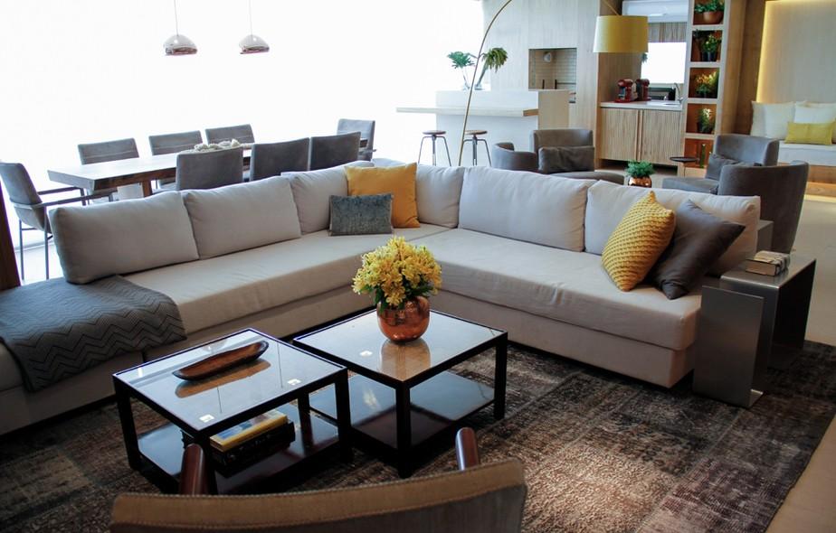 Sofas em l para salas pequenas for Sofa grande sala pequena