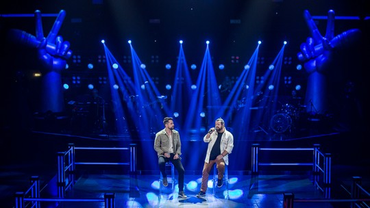 Dani Vendramini e Rik Oliveira representam o Time Lulu na segunda noite de Batalhas do The Voice Brasil