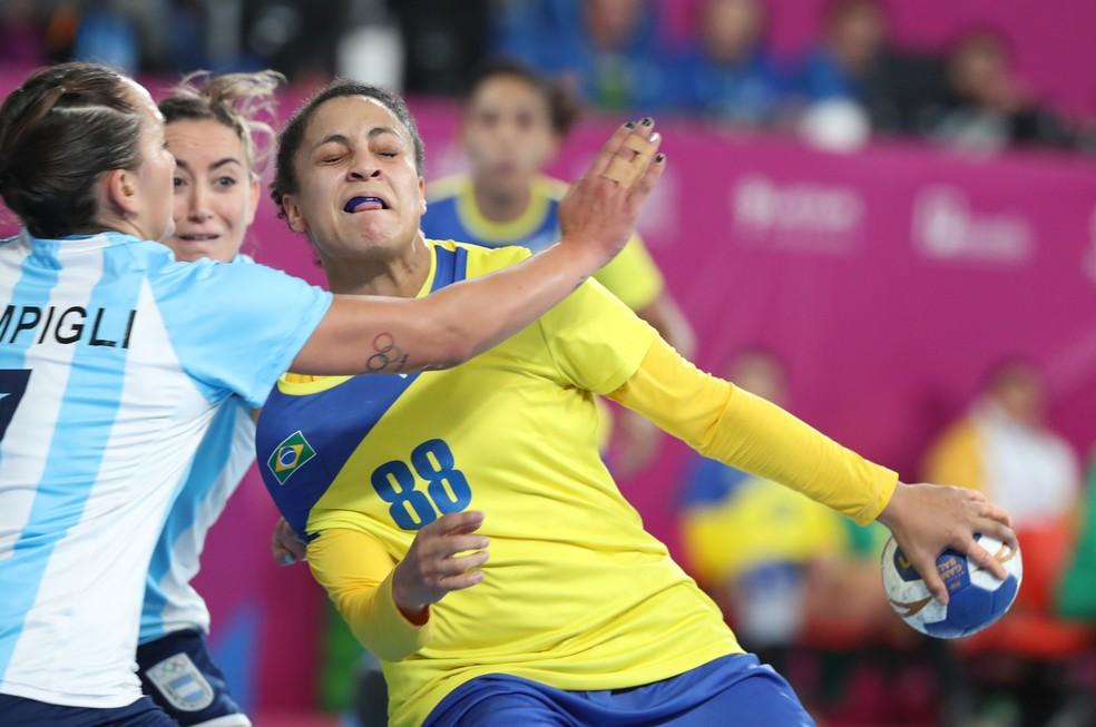 Brasil na final do handebol feminino em Lima â?? Foto: REUTERS/Sergio Moraes