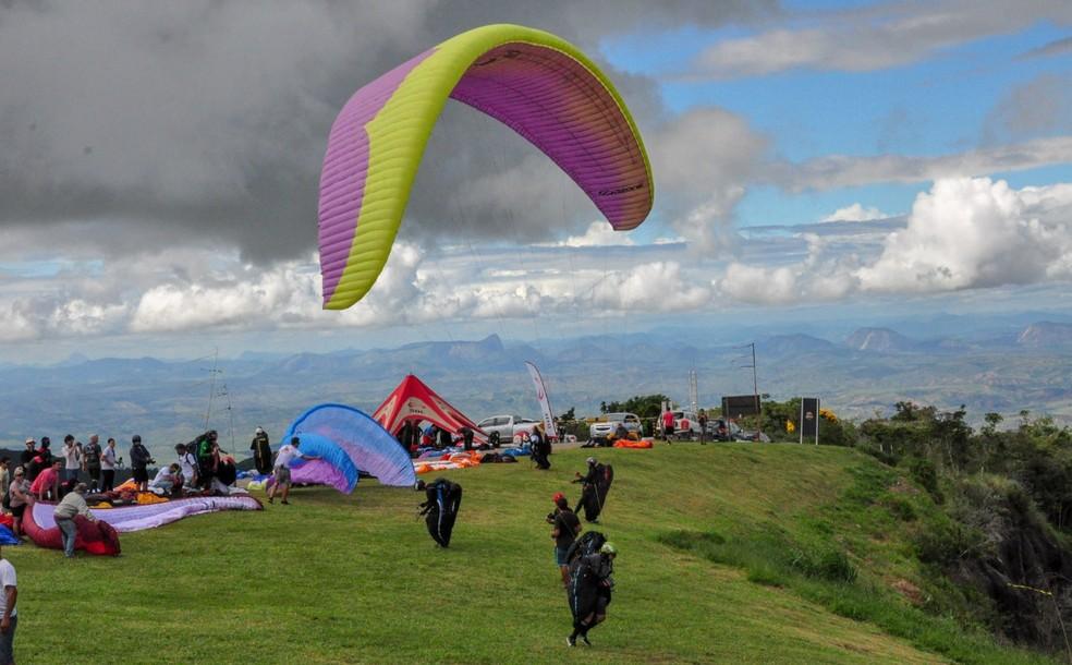 Provas são realizadas no Pico da Ibituruna — Foto: Silvana Soares/Assessoria de Comunicação