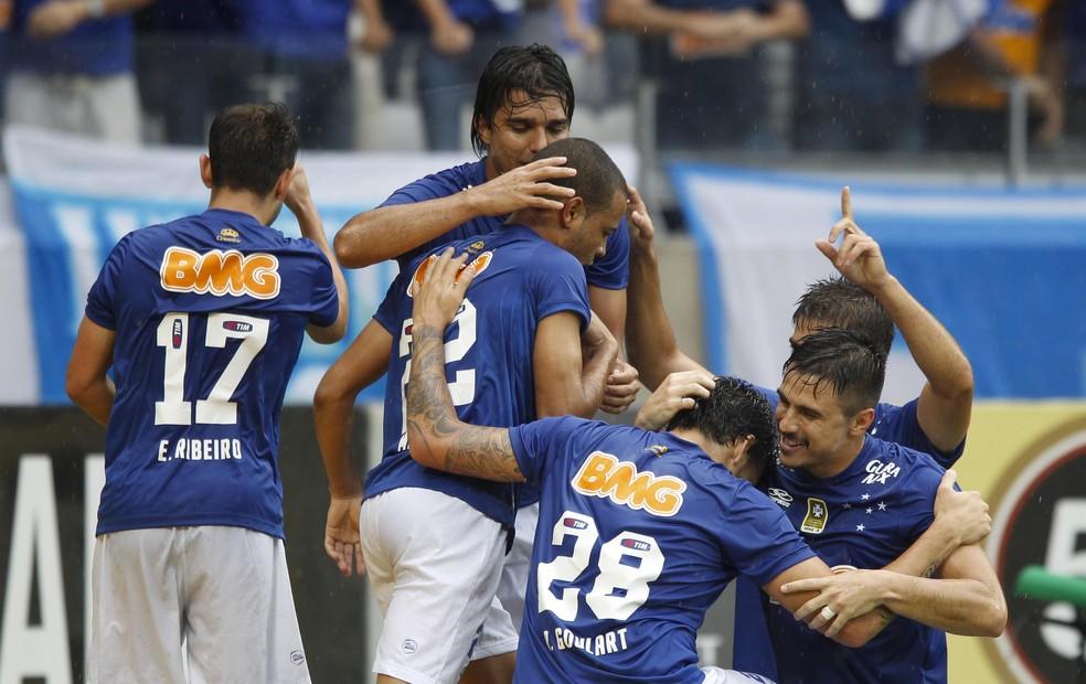 Cruzeiro foi campeão brasileiro em 2014 após ótima campanha no primeiro turno — Foto: Washington Alves / Light Press