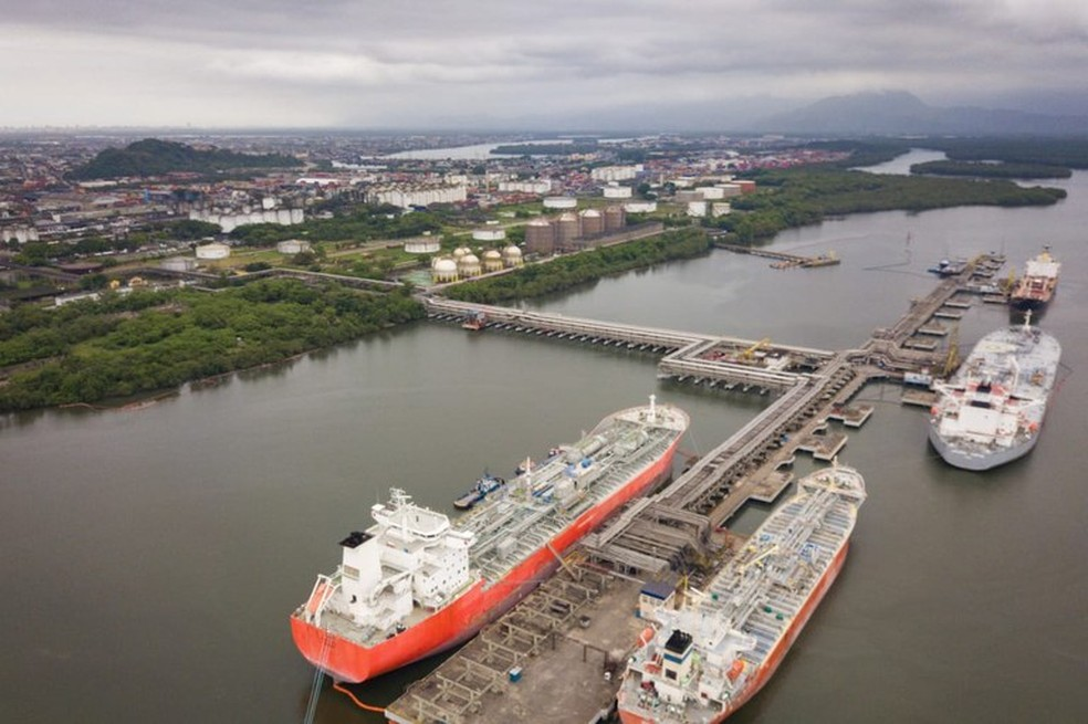 Governo publicou editais de arrendamento de dois terminais do Porto de Santos nesta terça-feira (14) — Foto: Reprodução/Ministério de Infraestrutura