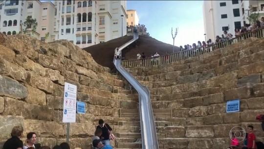 Cidade espanhola fecha tobogã um dia após inauguração