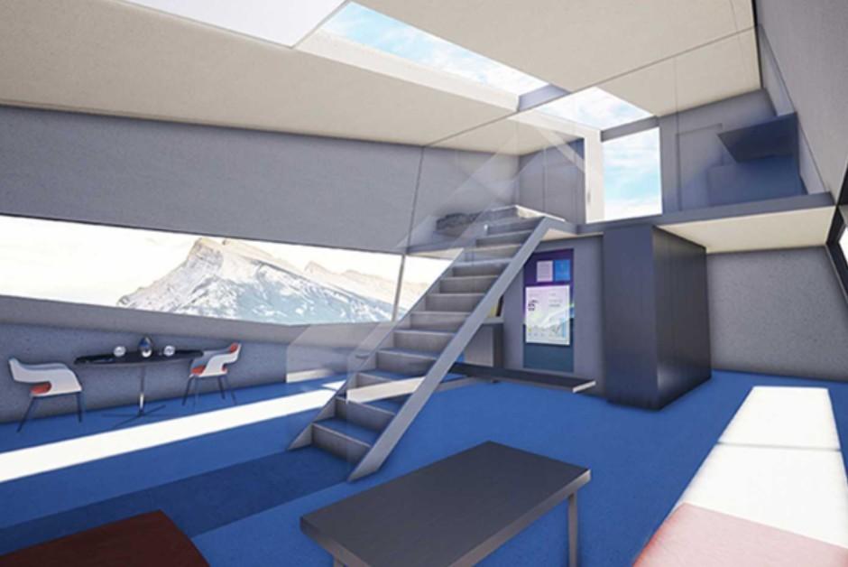 Espaço interno da garagem projetada pelos arquitetos (Foto: Divulgação)