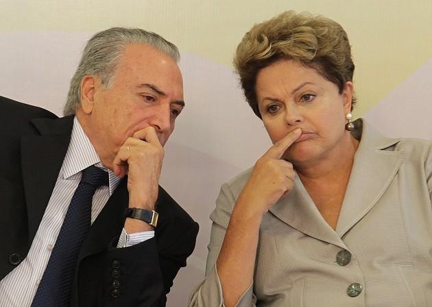 O preisdente Michel Temer e a ex-presidente Dilma Rousseff