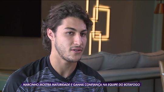 Mais forte mentalmente, Marcinho festeja renascimento no Botafogo: ''Voltei a ser feliz''