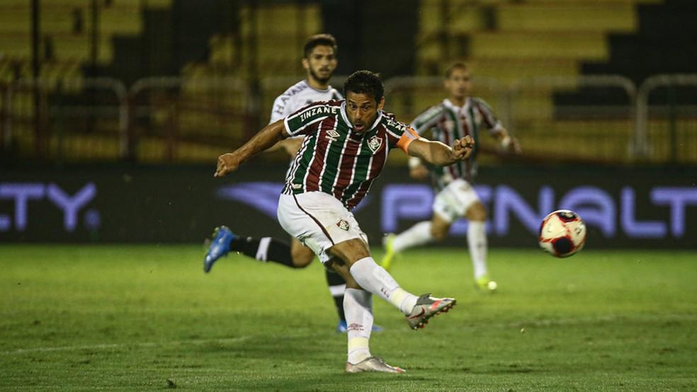 """Fred voltou a marcar, mas ataque """"titular"""" decepcionou — Foto: Lucas Merçon / Fluminense FC"""